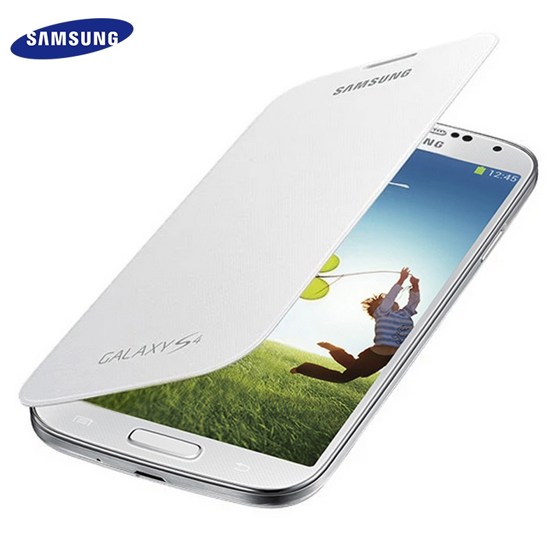 100% Original Samsung S4 Flip Cases Slim Leather Battery House Holster Cover for Samsung Galaxy s4 I9500 Case Protective Shell