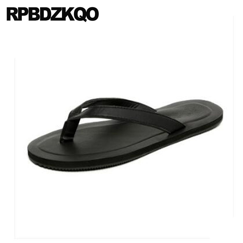 4a1b11603cf3b7 Flat Shoes Fashion Flip Flop Japanese Beach Soft Waterproof Slippers Outdoor  Slip On Men Sandals Leather Summer Slides Water
