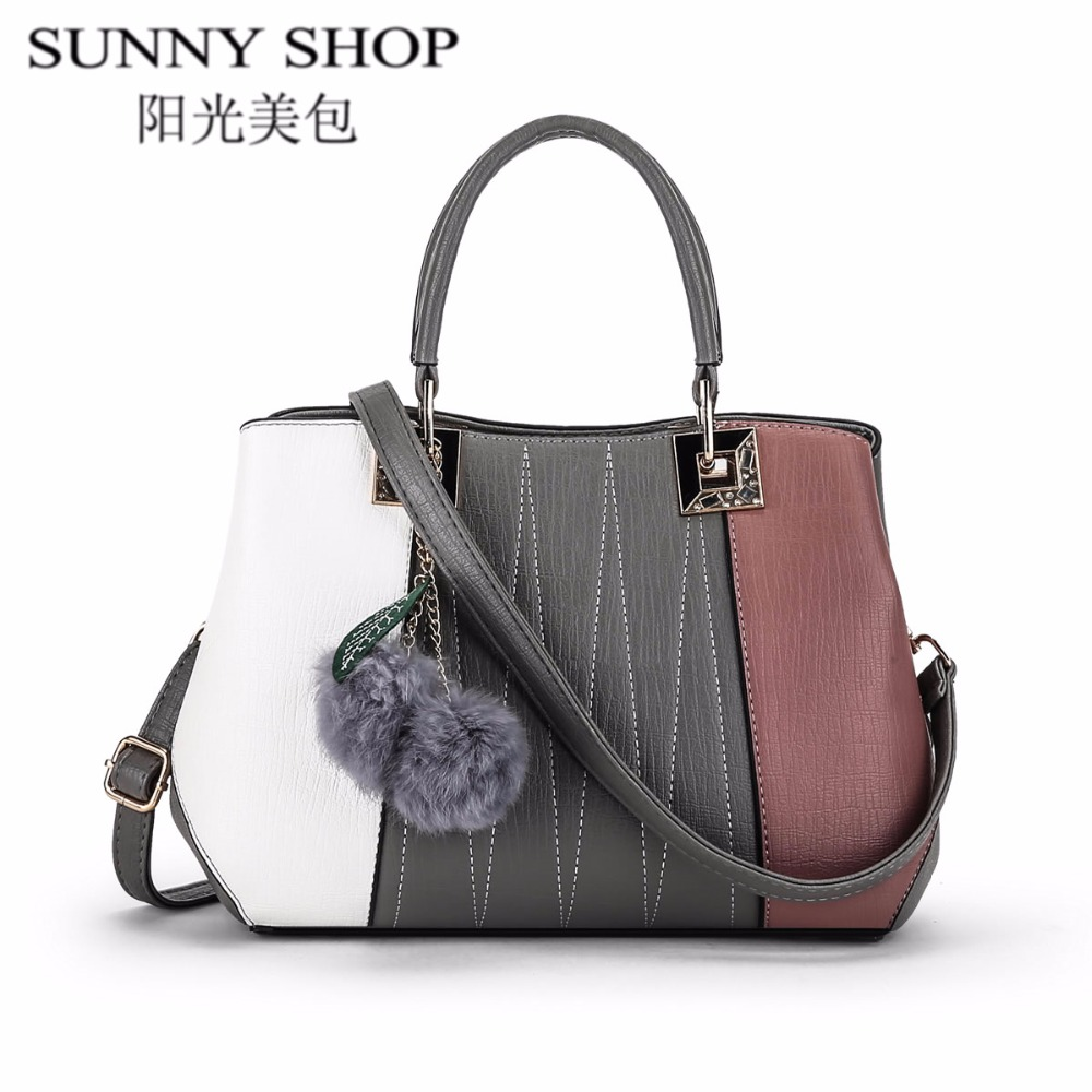 ФОТО SUNNY SHOP Designer Handbags High Quality Women Bags 2017 Luxury Bag Women Famous Brands Casual Tote Shoulder Messenger Bags
