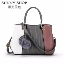 Sunny shop bolsa de bolsos de diseño de alta calidad de las mujeres bolsos 2017 de lujo mujeres famosas marcas de asas casual bolsas de mensajero del hombro