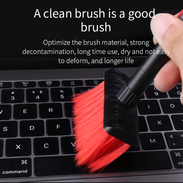 Hagibis Keyboard Cleaning Brush 4 In 1 Multi-fuction Computer Cleaning Tools Corner Gap Dust Removal Cleaning Brush For Gamers Computer Cleaners