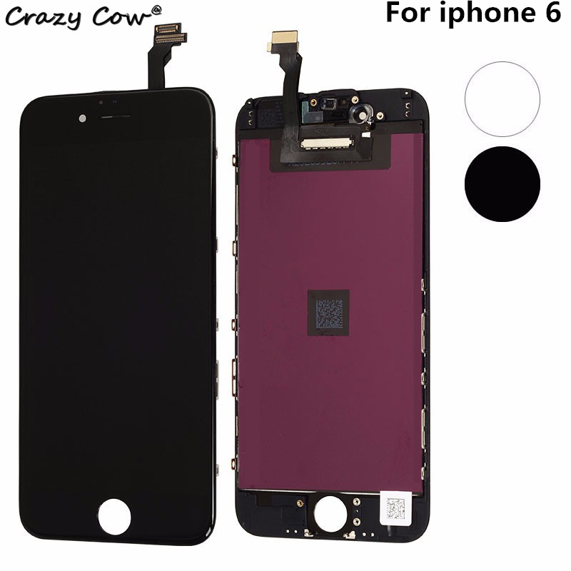 Grade AAA 4.7 inch LCD For Apple iPhone 6 Display With Digitizer Touch Screen No Dead Pixel Replacement Parts Assembly Tested lcd screen assembly for apple iphone 4 4g lcd display touch screen digitizer pantalla with frame bezel replacement black white