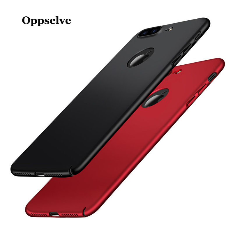 Oppselve Luxury Phone Case For iPhone X 10 Ultra Thin Frosted Cover For iPhone X 7 6 6s Plus Capinhas PC Back Shell Coque Funda in Fitted Cases from Cellphones Telecommunications