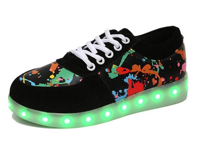 d3dfa0a469cbf Chaussure lumineuse enfant enfants LED lumières chaussures garçons sport  chaussures LED enfants chaussures filles USB clignotant