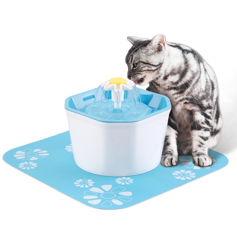 1.6L Automático Cat Pet Fonte de Água com LED USB Elétrica Mudo Animal de Estimação Do Gato Do Cão Alimentador Bebedor Tigela Bebedouro Para Animais de Estimação dispenser