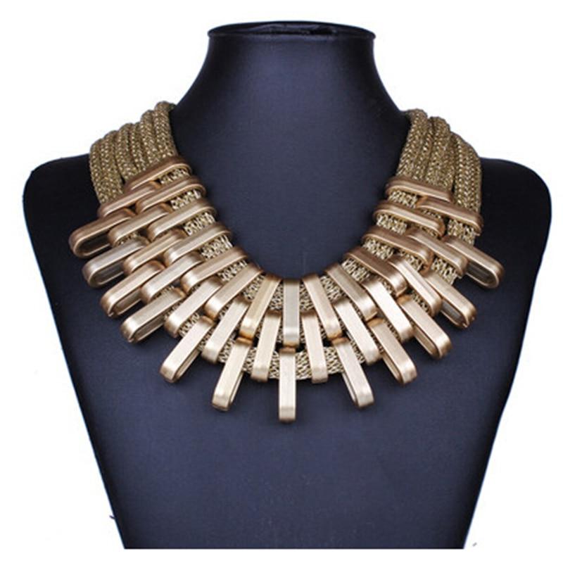2019 nouveau acrylique Punk Vintage mode colliers et pendentifs femmes déclaration collier dégradé gouttes tour de cou Maxi Colar Feminino 3