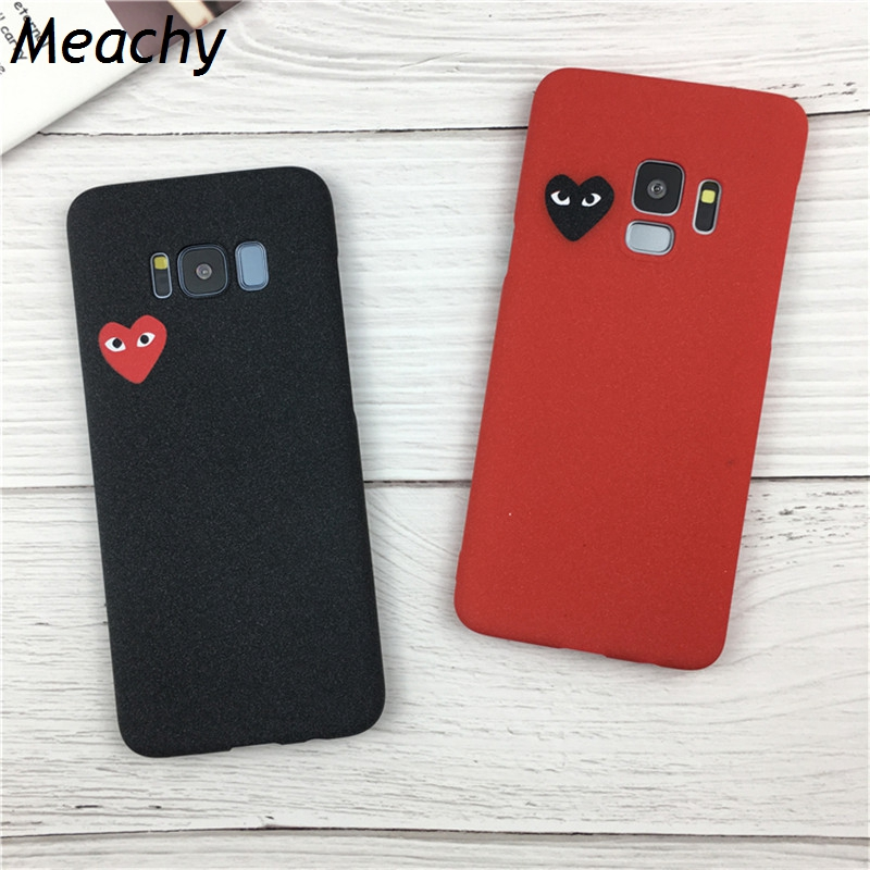 Meachy Cdg Play Comme Des Garcons Hard Case For iphone 6 6S 7 Plus 8 X Cover For Samsung Galaxy S7 Edge S8 Note 8 S9 Plus Coque