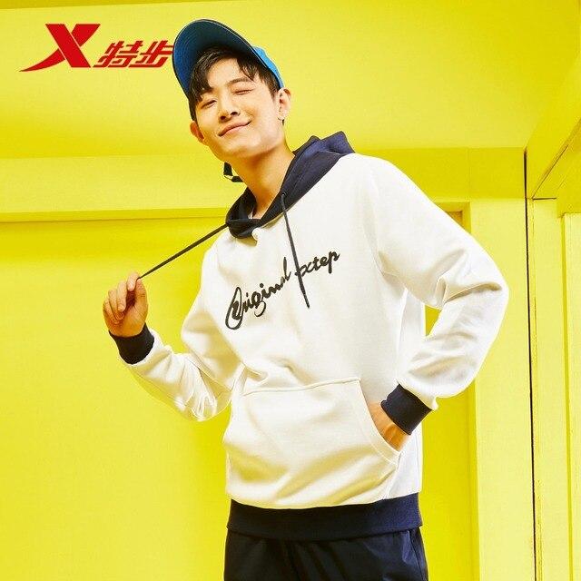 881129059342 Xtep мужской свитер 2018 Осень Новый с капюшоном свитер тренд модная мужская рубашка