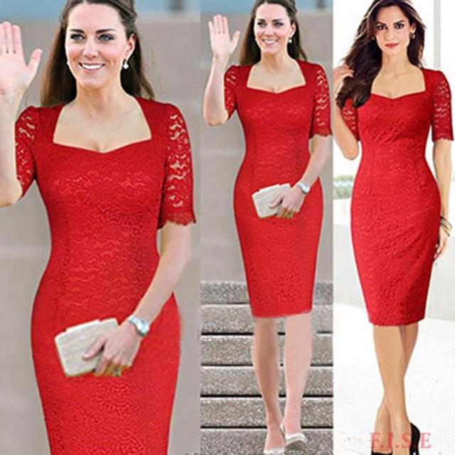 Red cocktail dress accessories