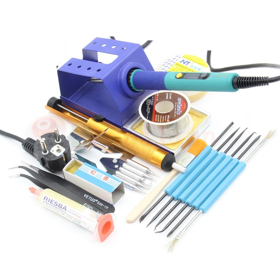 CXG 936d temperature Adjustable electric soldering iron 220V 60W Internal heating Universal 900M tip sting Tweezers Iron frame