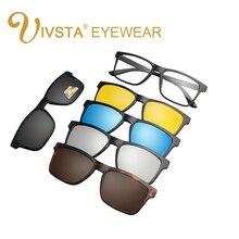 IVSTA Novo Clipe Em Óculos De Sol Dos Homens Polarizados Clipe Óculos De Sol para Homens Polarizada óculos de Sol Ímã Magnético Flip Up óculos de Prescrição