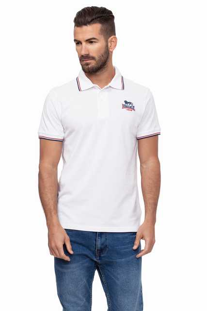 Lonsdale men   Polo   Manga Corta Pique Color White