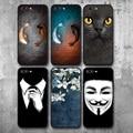 Милый Кот узор кои рыба телефон черный чехол для iPhone X 8 7 6 s плюс Чехол для iPhone XS Max XR 5S SE чехол для мягкий чехол из ТПУ - фото
