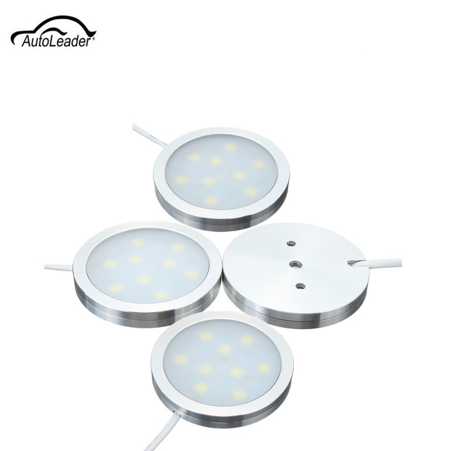 4Pcs White 12V Car Interior LED Dome Lamp Spot Lights Slim Flush For ...