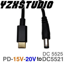 PD2.0 3,0 к DC 5,5*2,1 5,5*2,5 Decoy триггер Кабель-адаптер TYPE-C PD Decoy line QC4 зарядка ноутбука 15 в 20 в зарядное устройство