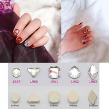 TREW 10pcs Nail Rhinestones Gems Colorful Scrub Flatback Gem For DIY Nails Art Manicure Crystal Rhinestone #1959-#1963