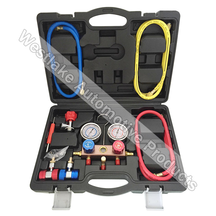 Multi- Function R410A R134A R22 Manifold Gauge Cooling System Testing Tool 520w cooling capacity fridge compressor r134a suitable for supermaket cooling equipment