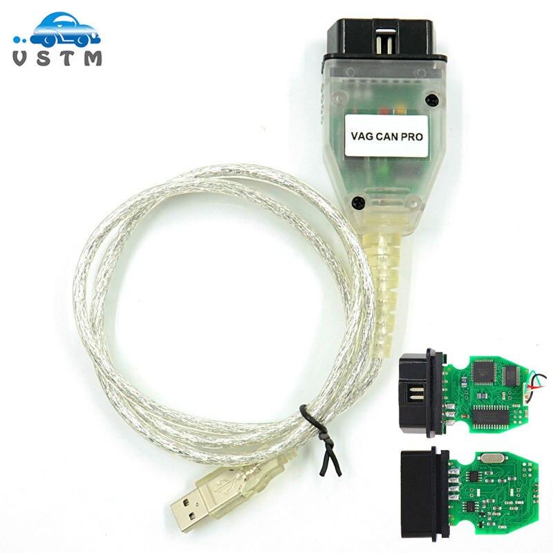VAG PRO puede autobús V5.5.1 VCP escáner VAG puede PRO puede BUS + UDS + K-line VCP escáner obd 2 escáner de diagnóstico de coche herramienta sin dongle