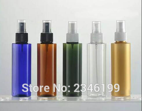 150ML Plastic Spray Bottle Flat Shouder Model, Colorful Plastic Cosmetic Perfume Container Empty PET Packing Bottle, 25pcs/lot