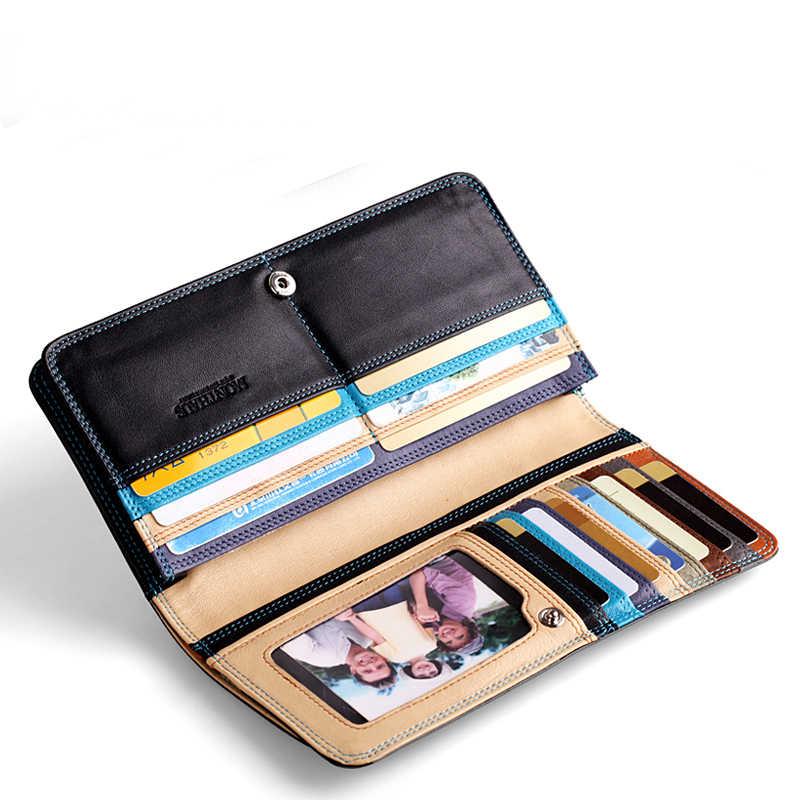 2018 nuevo regalo de cumpleaños de moda famoso hombre billetera larga negocios hombres bolso de mano bolso móvil con bolsa de monedas envío gratis