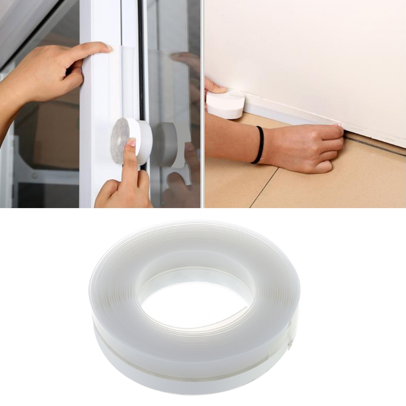 Self Adhesive Window Door Rubber Draught Excluder Strip Sealing Tape Seal Strip