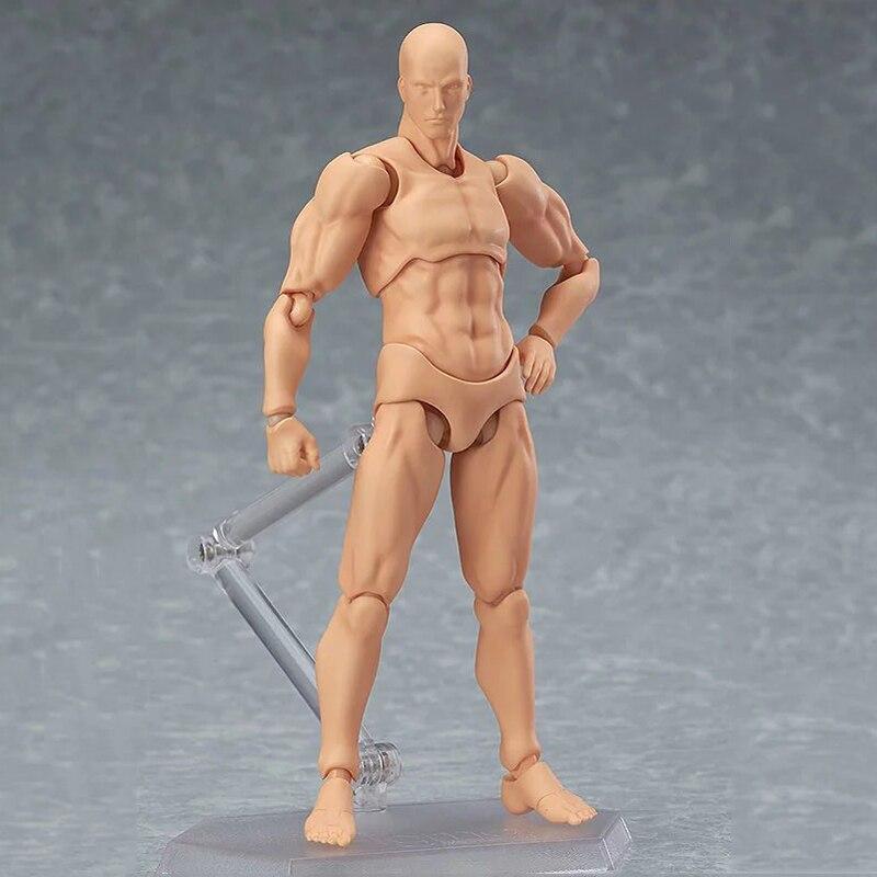 14.5 см Figma архетип он она ПВХ фигурку человека Средства ухода за кожей суставов мужской женский телесного цвета подвижные Куклы аниме Модели ...