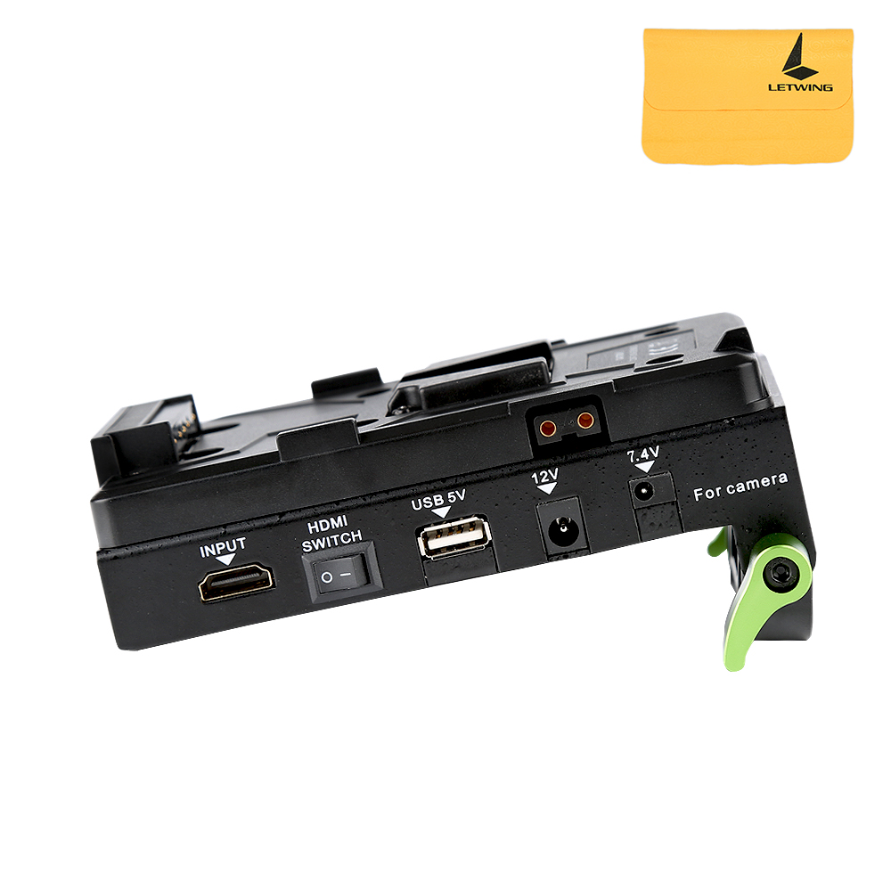 Lanparte V-Mount Battery Pinch VBP-01 HDMI Splitter Power Supply Adapter V-Lock for DSLR Rig