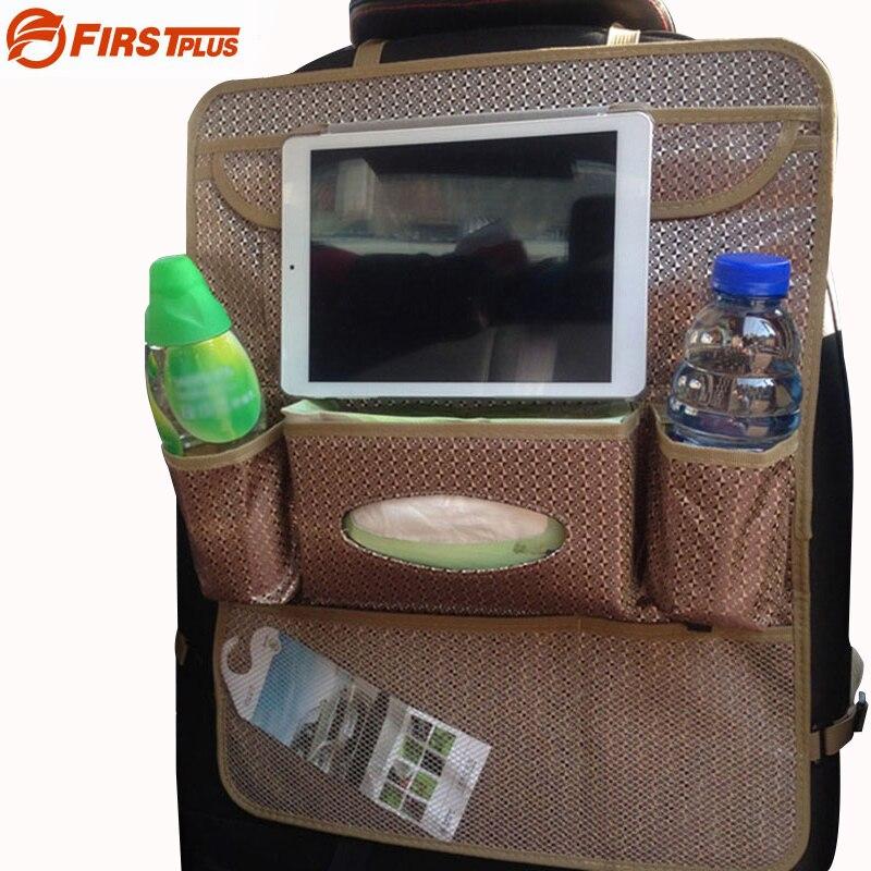 Многофункциональный Авто Заднем Сиденье Организатор Protecter для Ipad Планшеты PC ткани напиток мешок для мусора автомобилей Стайлинг Черный