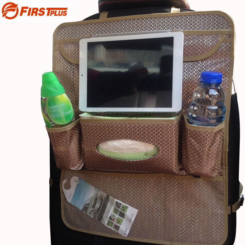 Multifunctional Auto Car Back Seat Organizer Holder Protecter For Ipad Tablet PC Tissue Drink Garbage Bag Car Styling Black