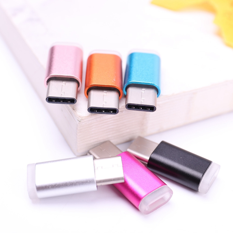 Colorful USB Type C Male Connector To Micro USB Female Converter USB-C Type-C Adapter
