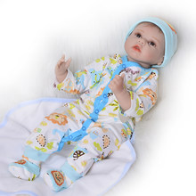 22 Inch Realistic Reborn Dolls 55 Cm Soft Silicone Vinyl Newborn Doll Boy Lifelike Little Babies Toy Children's Day Presents(China)