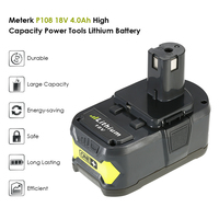 Meterk 18V 4 0Ah Replacement Battery Power Tools Battery High Capacity Rechargeable Lithium Replacement Battery Pack