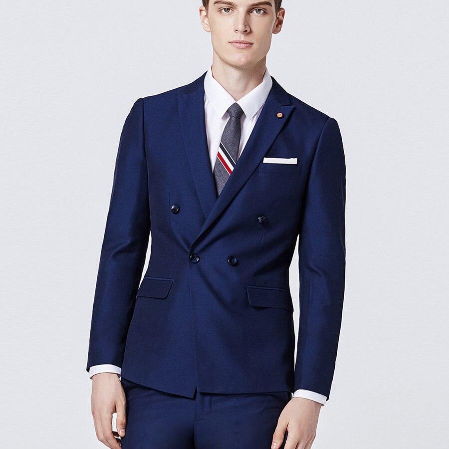 Royal Blue Wedding Suits for Best Men Business Suit Casamento Suit Men 3Pcs(Jacket+Vest+Pants) Terno Masculino Slim Fit Hot Sale