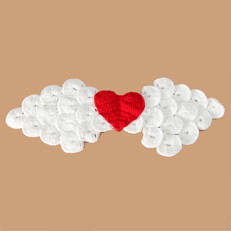Infant 0-3 months Hand-knitted Wool Angel Wings Newborn Baby Cothes Wild Photography Props Woven One Hundred Days Baby Pictures