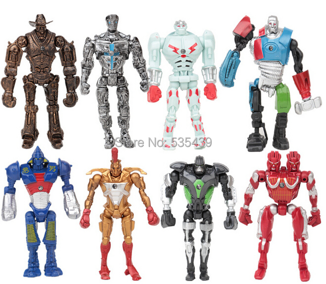 Hot NEW 8pcs set 13cm Real Steel PVC Action Figure Collection Model Toys Classic Toys Christmas