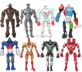 Hot ! NEW 8pcs/set 13cm Real Steel PVC Action Figure Collection Model Toys Classic Toys Christmas gift toy