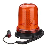 Safurance 80 LED Magnetic Mount Rotating Flashing Amber Dome Beacon Recovery Warning Light Roadway Safety