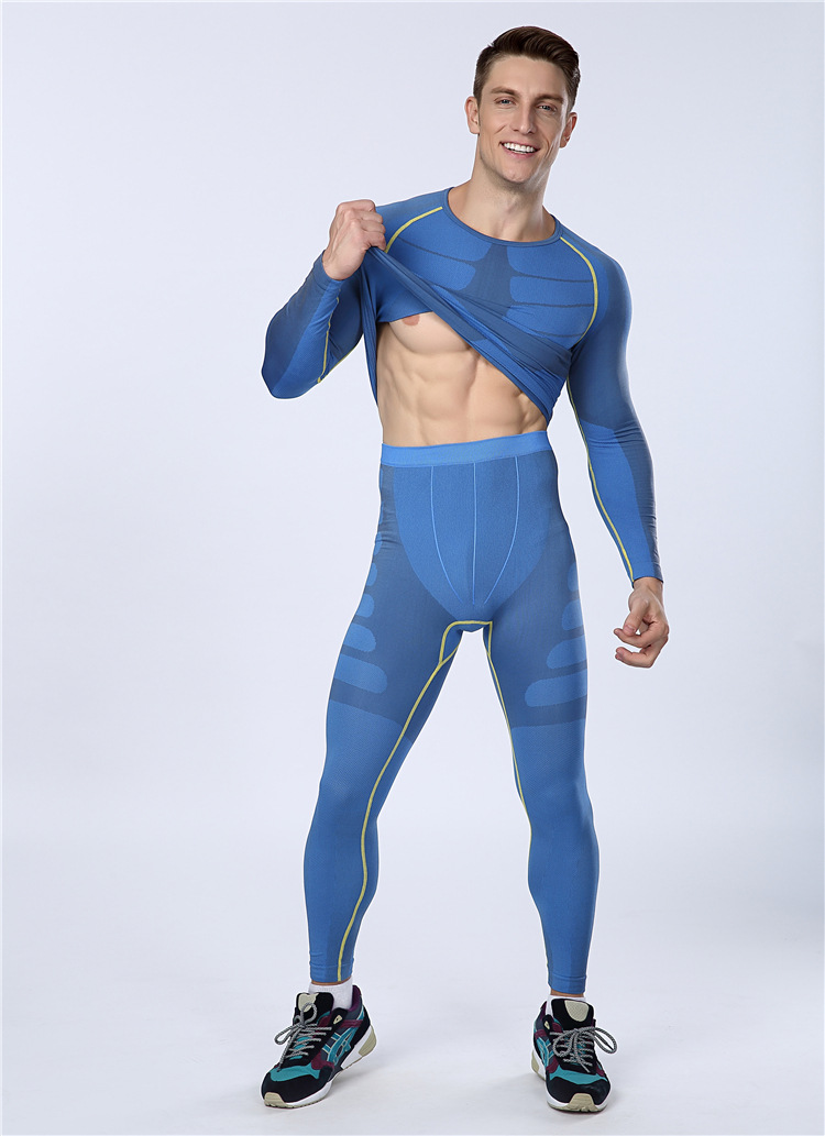 Just Brand Mens Long Compression Pants Speed Dry Crossfit Fitness Workout Pants Anti-bacteria Leggings Trousers To Have A Long Historical Standing Men's Clothing