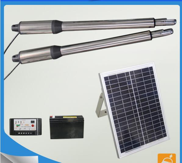 Solar Panel Power System Linear Actuator SWing Gate Opener Automatic Swing Gate Motor a pair 300kgs per leaf