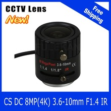 8Megapixel Varifocal CCTV 4K Lens 1/1.8 inch 3.6-10mm CS Mount DC IRIS For SONY IMX178/IMX274 Box Camera/4K Camera Free Shipping
