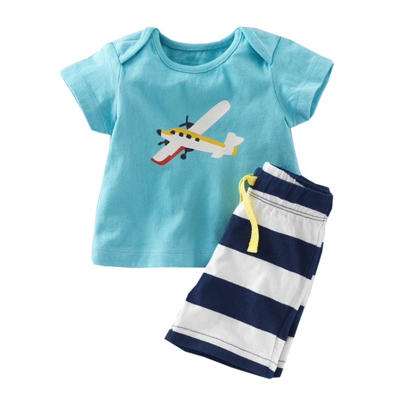 2017 New Children Clothing Boys Clothes Kids Summer Set Baby Clothing Shorts Pants Suit