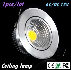 1X Super Bright Led downlight light COB Ceiling Spot Light 3w 5w 7w AC/DC 12V ceiling recessed Lights Indoor Lighting