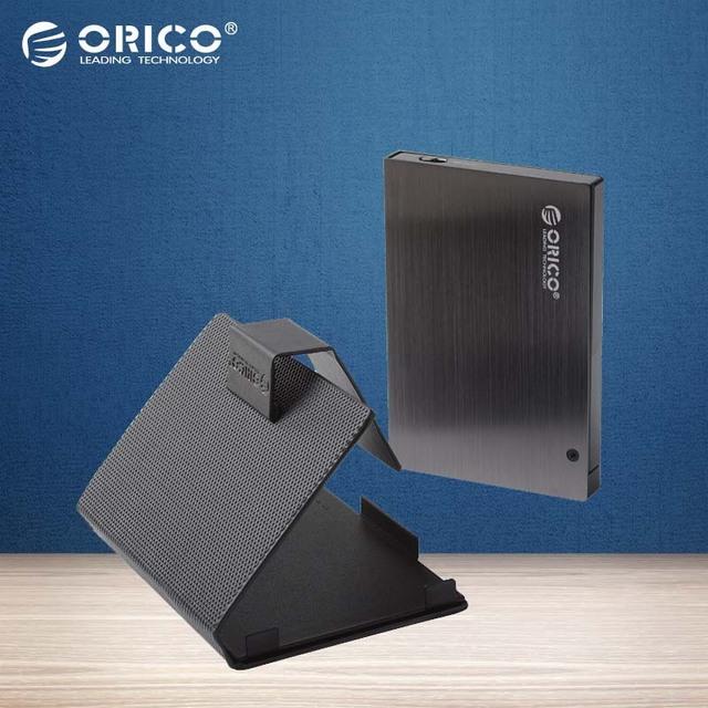 """ORICO 25AU3-BK 2.5 """"USB3.0 Alumínio caso HDD Hdd Externo com capa de Couro Protetora (Não incluindo HDD)-preto"""