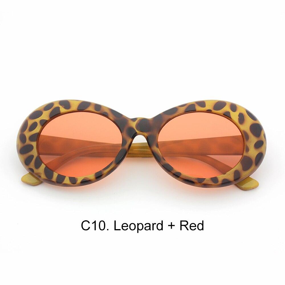 ccac7d9b80 Glasses Men Women Retro Clout goggles White Oval Sunglasses NIRVANA ...