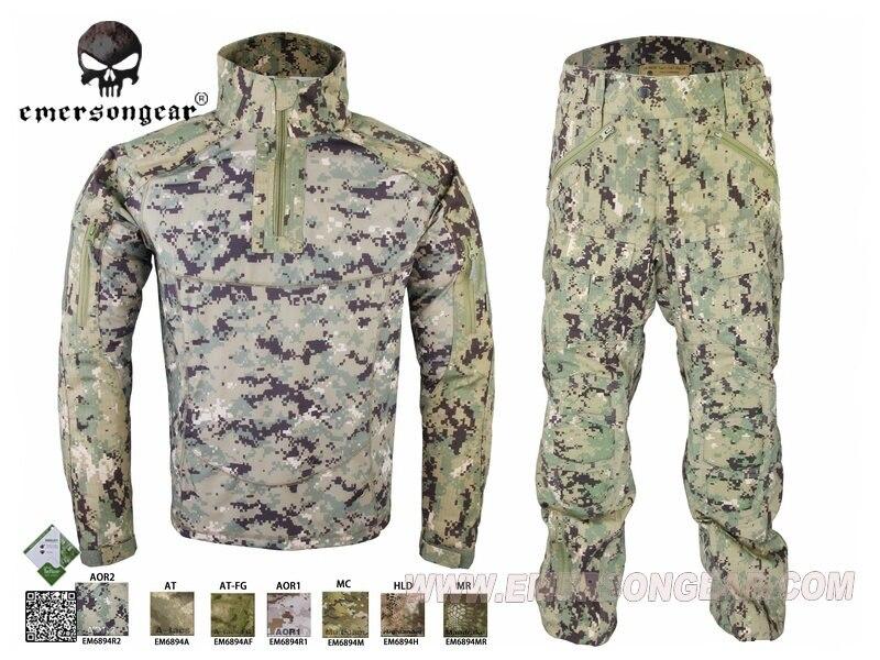 Military Hunting Combat BDU Uniform Emersongear All-Weather Tactical Suit & Pants Multicolor EM6894 AOR2 new emersongear tactical woman g3 combat uniform pants