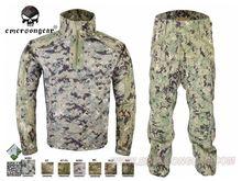 Военный Охота Боевая униформа БДУ Emersongear всепогодный тактический костюм и брюки многоцветный EM6894 AOR2