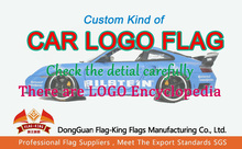 Tipo de coche PERSONALIZADO logotipo de la marca BANDERA, compruebe los detalles, 90*150 CM, 100D poliéster personalizada coche bandera