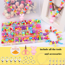 24 lattice DIY Beads for Children handmade toys Acrylic loom bands Beaded assemble block toys for