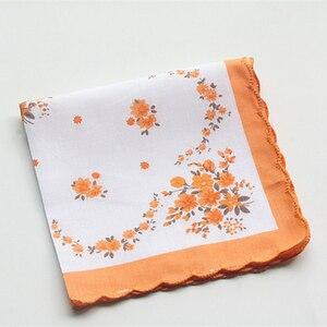 Handkerchiefs Women Soft Floral Printing Cotton Elegant Classic Pockets Square Handkerchief Womens National Style Simple Trendy