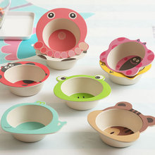 Board Baby Cutlery Learning-To-Eat Cartoon-Animal Cute Bowl Eco-Friendly
